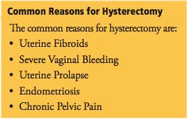 Reasons for Hysterectomy
